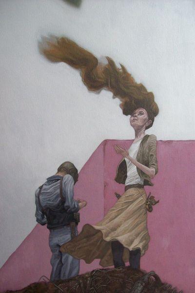 Acrylmalerei, Surreal zeichnung, Rotschopf, Menschen, Malerei
