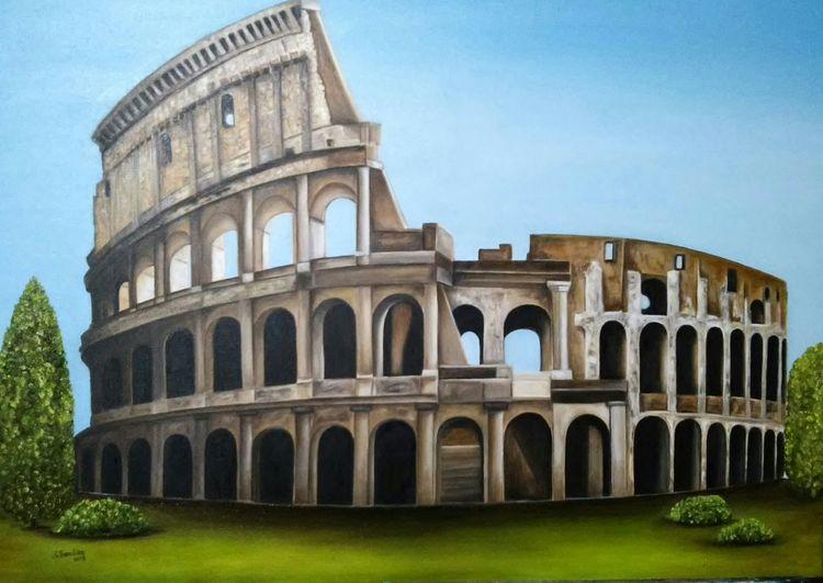 Rom, Colosseum, Ruine, Malerei