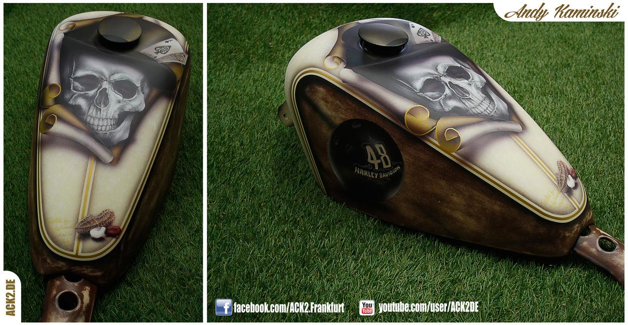 Custom Painted Harley Gas Tanks - 0425