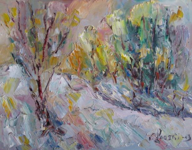 Malerei, Wintersonne