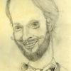 Selbstportrait, Arbeitszimmer, Mann, Zeichnung