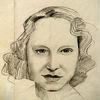 Skizze, Bleistiftzeichnung, Mutti, Zeichnungen