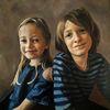 Portrait, Linz, Kinder, Öl auf leinen