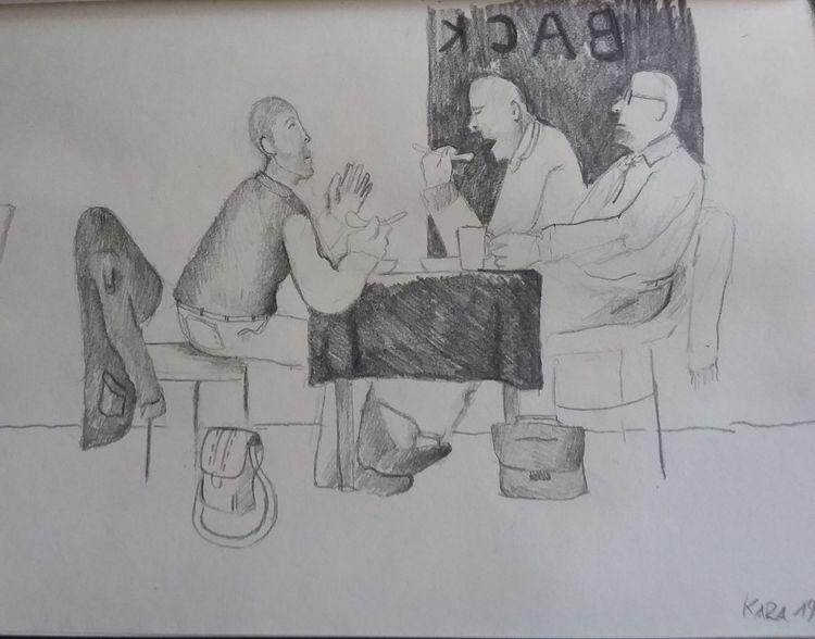 Gedankenbilder, Menschen, Bäckerei, Illustrationen