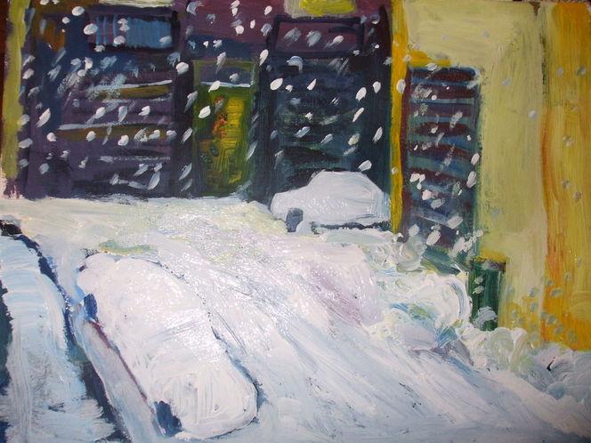 Schnee von gestern, Malerei, Schnee