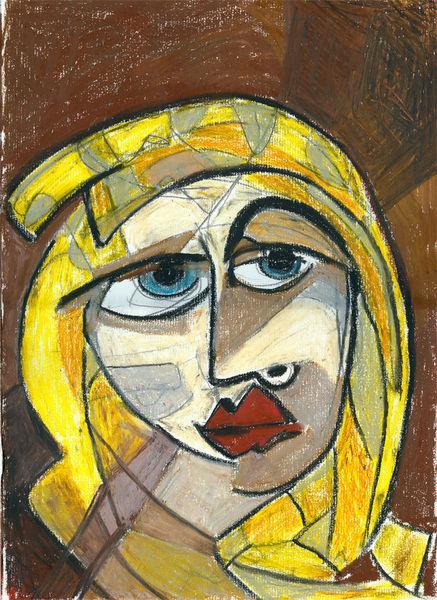 Ausgemalt, Portrait, Scribble, Frau, Zeichnungen,