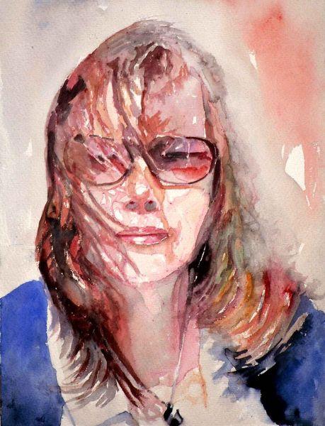 Haare, Frau, Wind, Sonne, Portrait, Blick