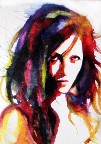Menschen, Blick, Gesicht, Ausdruck, Portrait, Frau