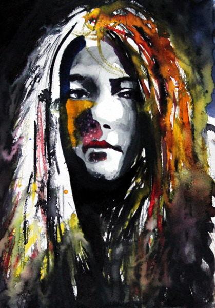 Blick, Portrait, Gesicht, Menschen, Haare, Frau