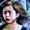 Aquarellmalerei, Portrait, Frau, Gesicht