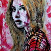 Frau, Portrait, Haare, Blick