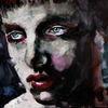 Gesicht, Blick, Menschen, Aquarellmalerei