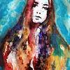 Abstrakt, Menschen, Farben, Frau