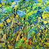 Gelb, Grün, Blau, Abstrakt