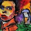 Gesicht, Farben, Menschen, Malerei