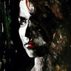 Aquarellmalerei, Blick, Frau, Portrait