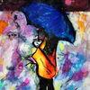 Schirm, Menschen, Farben, Figural