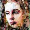 Aquarellmalerei, Blick, Gesicht, Portrait