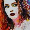 Gesicht, Farben, Portrait, Blick