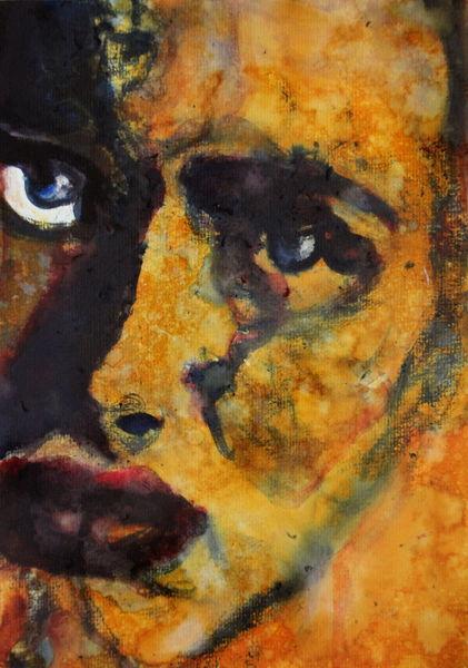 Frau, Blick, Gesicht, Ausdruck, Menschen, Gelb