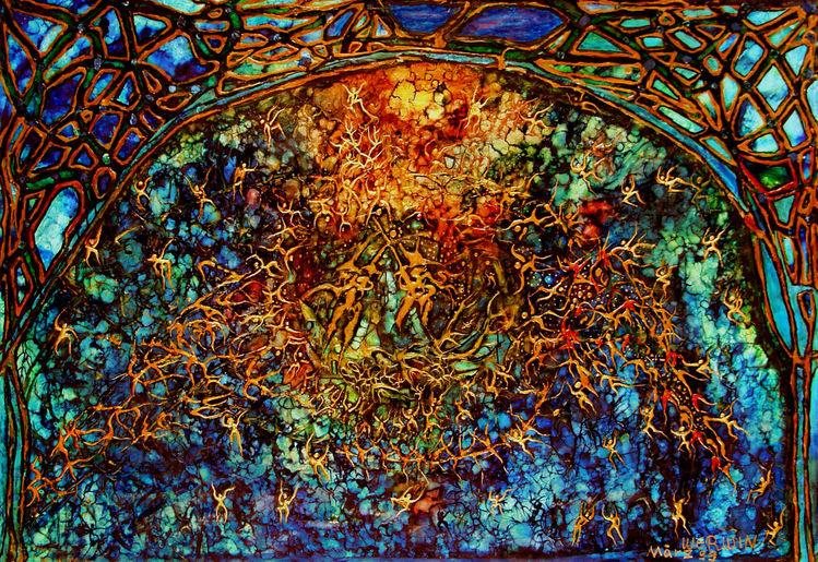 Nirvana menschen doors, Malerei