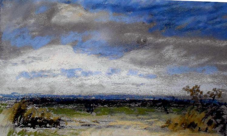 Himmel, Donau, Wolken, Ebene, Malerei