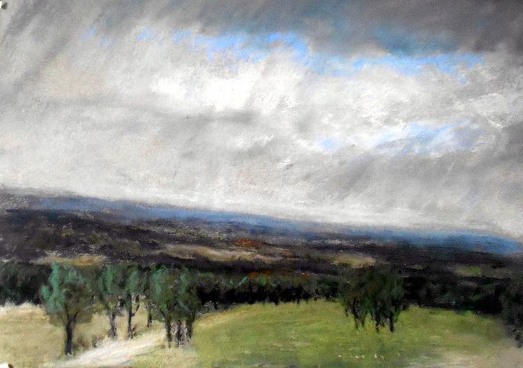 Himmel, Landschaft, Wolken, Regen, Malerei