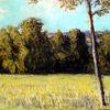 Sommer, Feld, Baum, Malerei