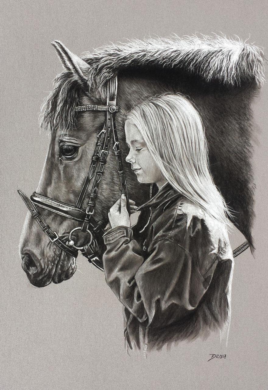 mädchen und pony pferde mädchen menschen