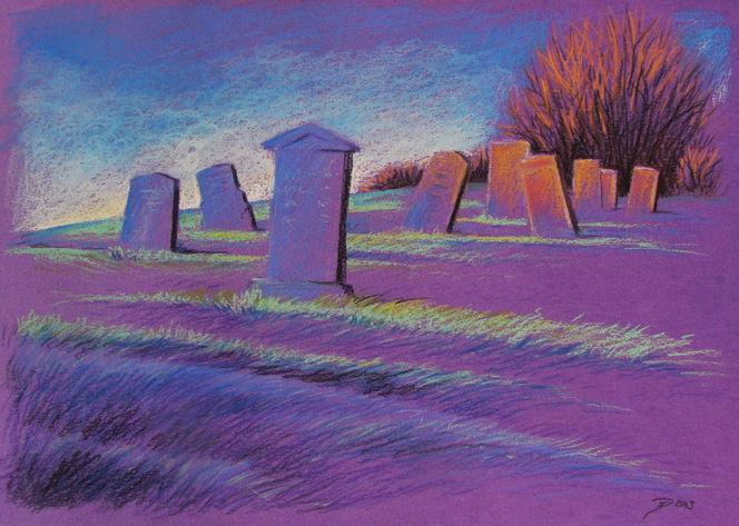 Gräber, Friedhof, Graves, Grab, Hügel, Zeichnungen