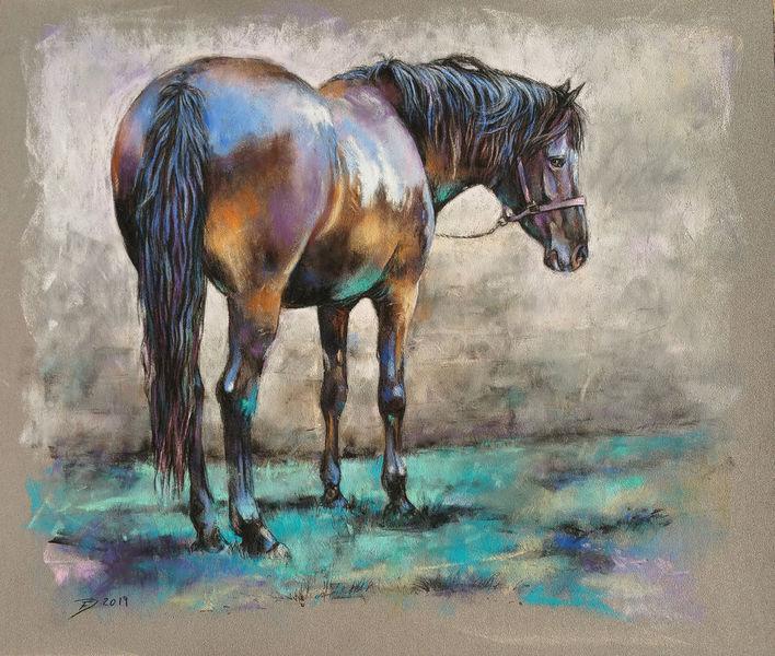 Pferde, Pony, Bunt, Smaragd, Malerei