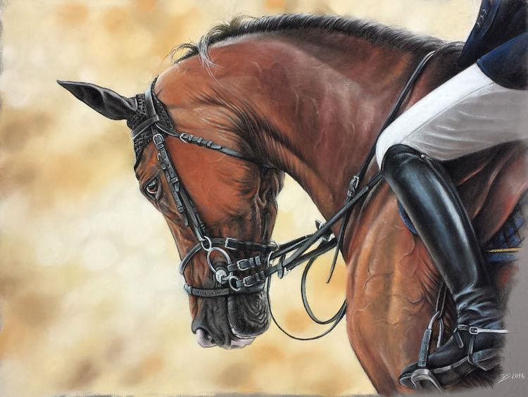 Pferde, Springpferd, Pony, Malerei