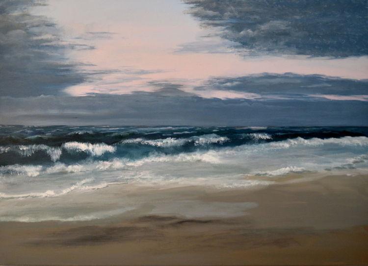Himmel, Malerei, Nordsee, Acrylmalerei, Wolken, Küste