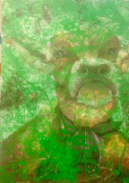 Gras, Kuh, Malerei