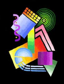 Digital, Konstruktivismus, Abstrakt, Psychedelischer