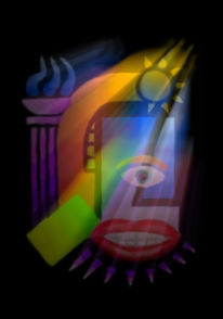 Psychedelischer, Konstruktivismus, Digital, Digitale kunst
