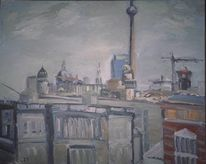 Fernsehturm, Mitte, Berlin, Malerei