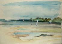 Malerei, Landschaft, Ostsee, Usedom
