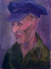 Mütze, Malerei, Portrait, Imker