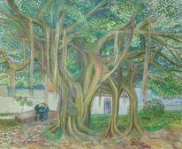 Baum, Malerei, Pflanzen