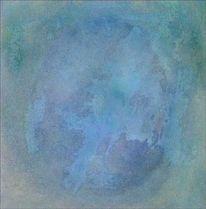 Malerei, Blau, Farbfeldmalerei, Fließen