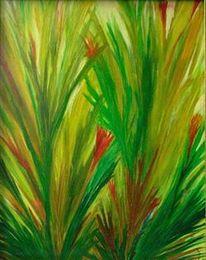 Malerei, Ölmalerei, Blumen, Farben