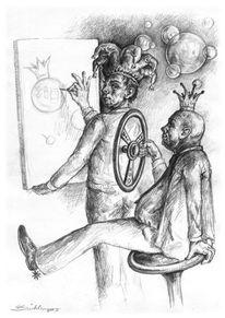 Skurril, Figur, Bleistiftzeichnung, Zeichnung