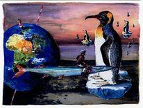 Traum, Aquarellmalerei, Figur, Grafik
