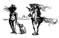 Skurril, Zeichnung, Figur, Skizze