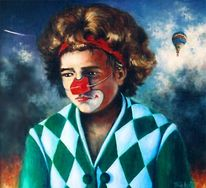 Figural, Malerei, Portrait, Clown