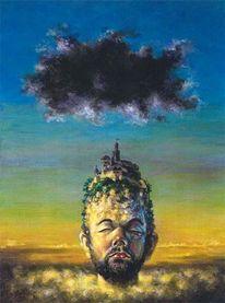 Surreal, Wolken, Malerei, Figur