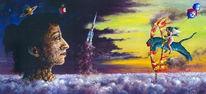 Skurril, Welt, Malerei, Welten skurril malerei