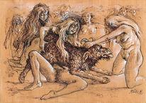 Frau, Erotik, Zauber, Faust