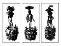 Welt, Zeichnung, Figur, Skurril